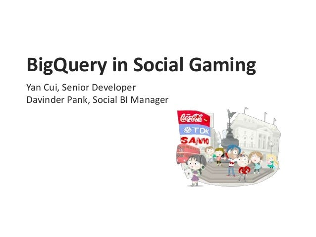 BigQuery in Social Gaming Yan Cui, Senior Developer Davinder Pank, Social BI Manager