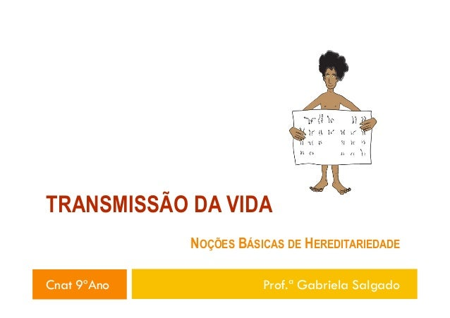 TRANSMISSÃO DA VIDA NOÇÕES BÁSICAS DE HEREDITARIEDADE Cnat 9ºAno  Prof.ª Gabriela Salgado