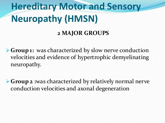 Hereditary motor and sensory neuropathy for What is motor neuropathy