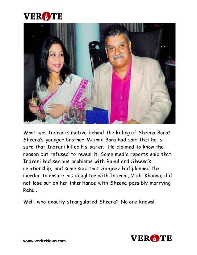 Sheena Bora Murder Case Full Story