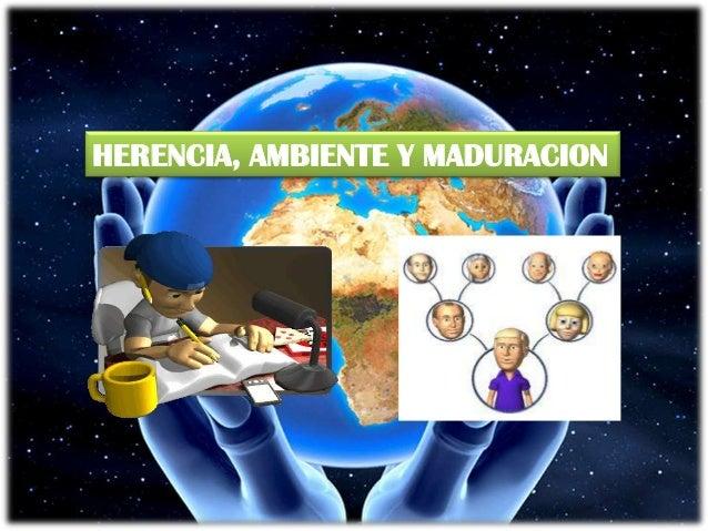 HERENCIA, AMBIENTE Y MADURACION