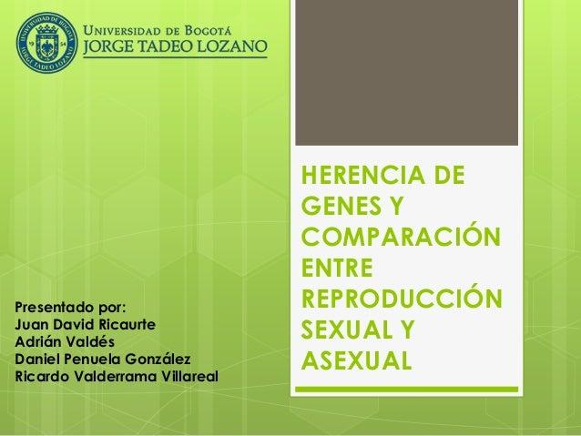 Comparacion entre reproduccion sexual y asexual