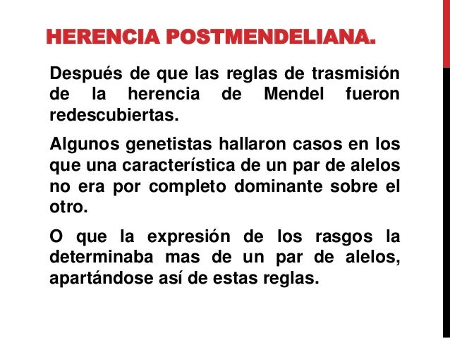herencia post mendeliana pdf