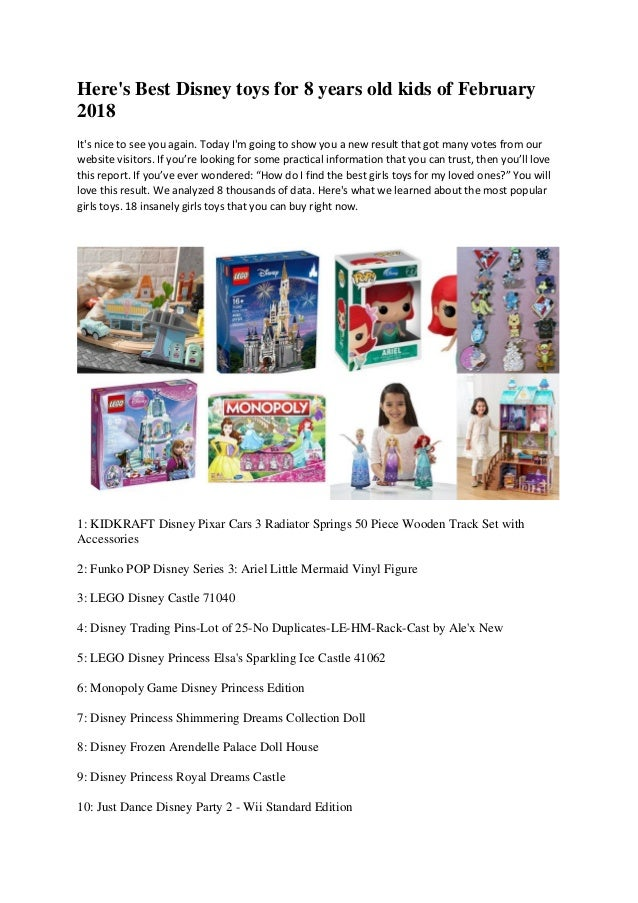 Heres Best Disney Toys For 8 Years Old Kids Of February 2018