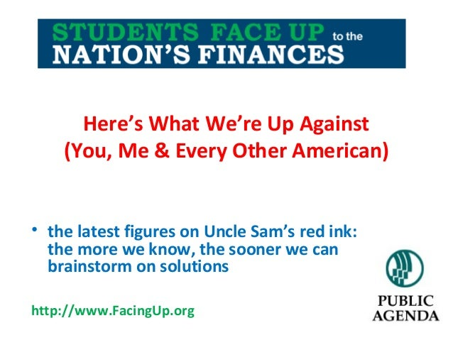 Here's What We're Up Against (You, Me & Every Other American) • the latest figures on Uncle Sam's red ink: the more we kno...