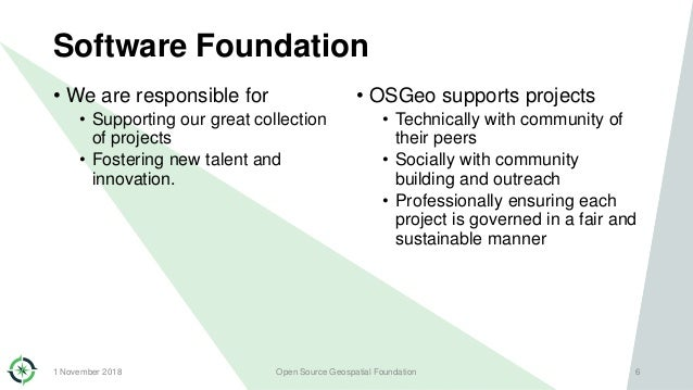 Software Foundation • We are responsible for • Supporting our great collection of projects • Fostering new talent and inno...