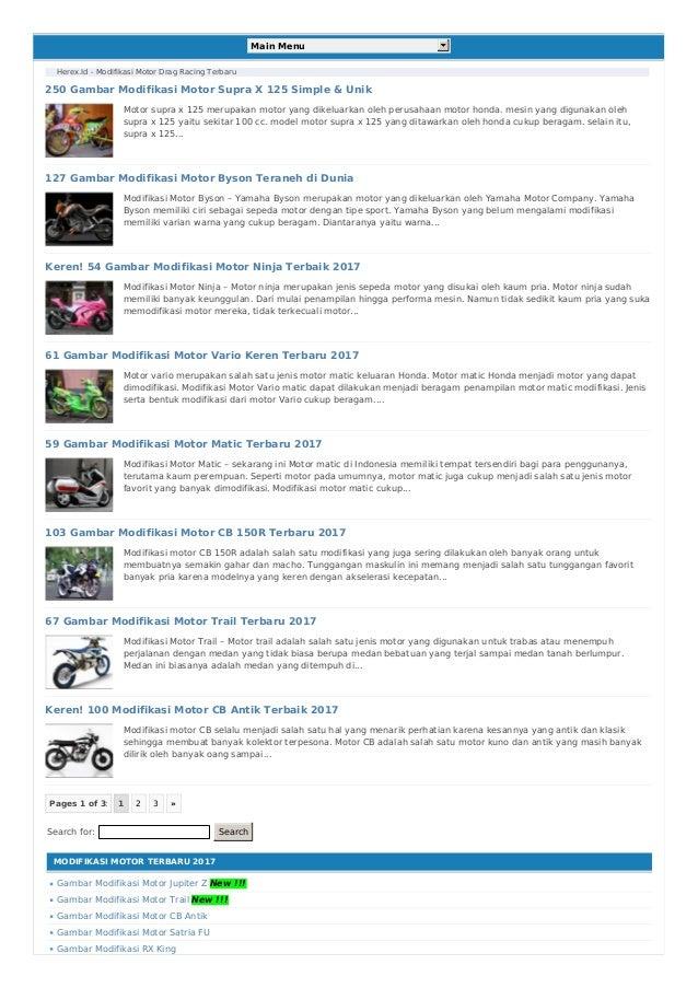 Herex id Situs Online Seputar Modifikasi Motor Herex