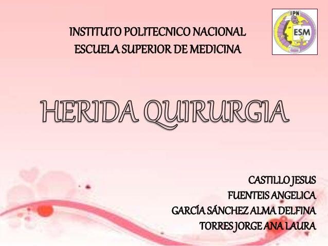 INSTITUTOPOLITECNICONACIONAL ESCUELA SUPERIOR DE MEDICINA CASTILLOJESUS FUENTEIS ANGELICA GARCÍASÁNCHEZ ALMA DELFINA TORRE...