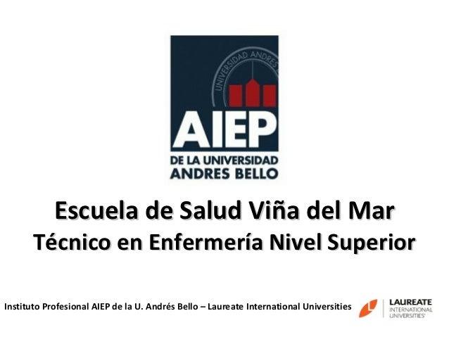 Escuela de Salud Viña del Mar       Técnico en Enfermería Nivel SuperiorInstituto Profesional AIEP de la U. Andrés Bello –...