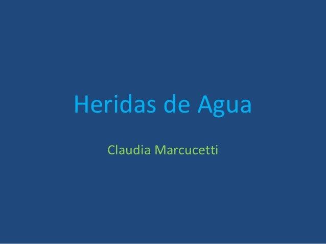 Heridas de Agua  Claudia Marcucetti