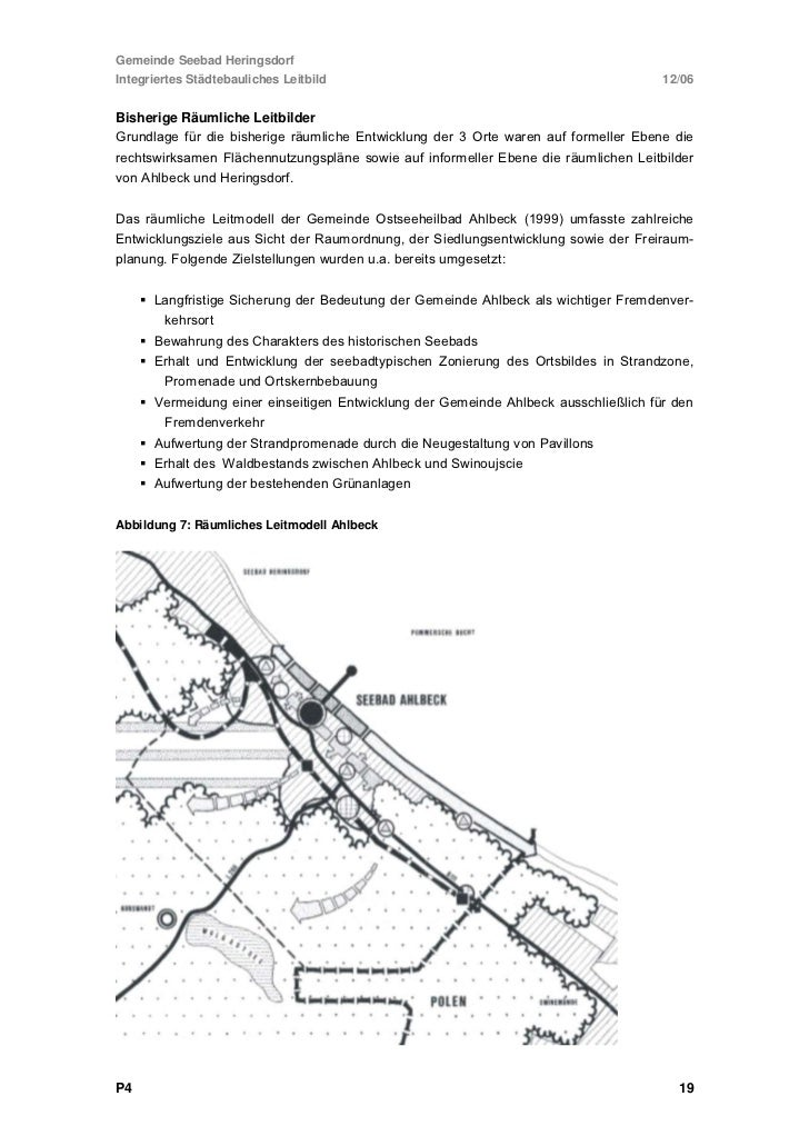 Gemeinde Seebad HeringsdorfIntegriertes Städtebauliches Leitbild            12/06Abbildung 8: Räumliches Leitmodell Hering...