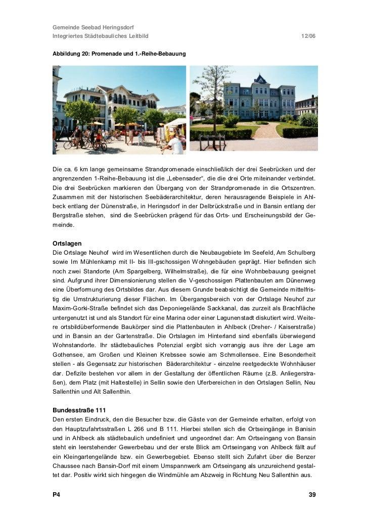 Gemeinde Seebad HeringsdorfIntegriertes Städtebauliches Leitbild   12/06Plan 1: SiedlungsstrukturP4                       ...