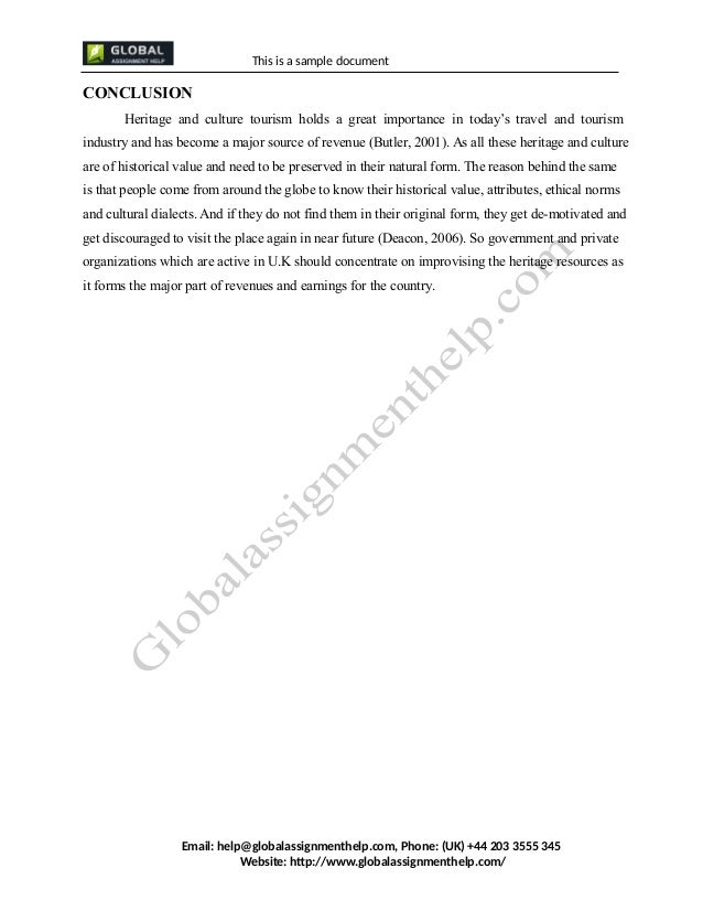 the cultural heritage tourism tourism essay Tourism essay writing is a task that is frequently given to students, and for obvious reasons: traveling expands your horizons and allows you to look at.