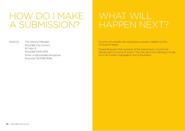 Write a submission to council