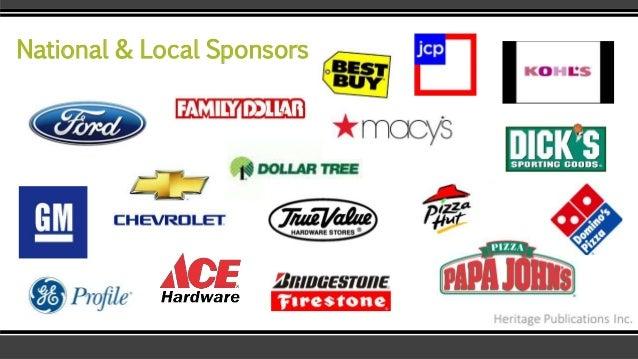 National & Local Sponsors