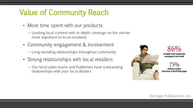 Value of Community Reach ▪ More time spent with our products – Leading local content with in-depth coverage on the stories...