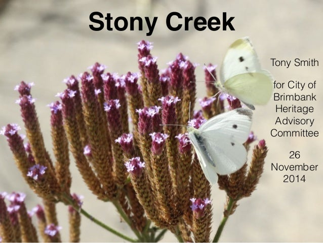 Stony Creek Tony Smith for City of Brimbank Heritage Advisory Committee 26 November 2014