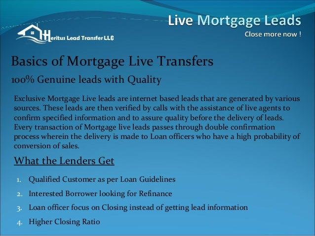Mortgage Leads Live Transfer - Heritus Lead Transfer