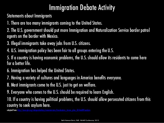 Critically examine that immigration is beneficial to the usa