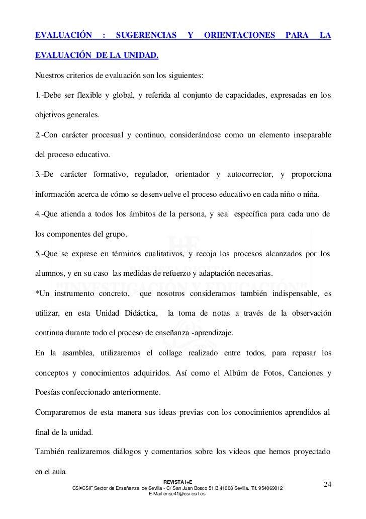 EVALUACIÓN                 :     SUGERENCIAS                     Y      ORIENTACIONES                          PARA   LAEV...