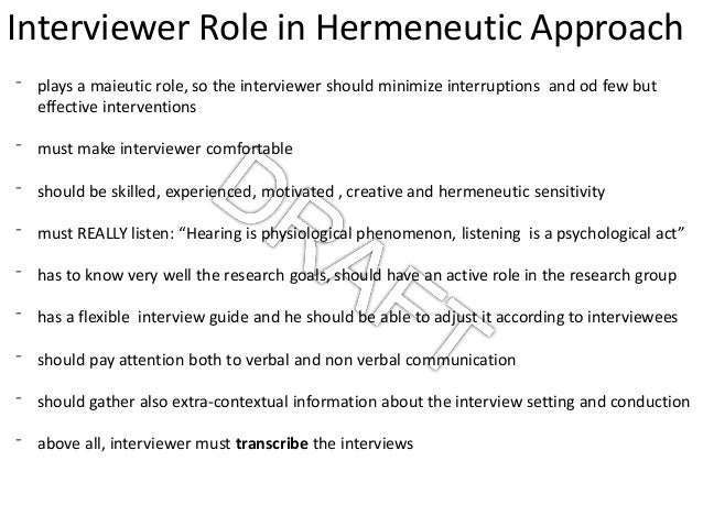 hermeneutics research method