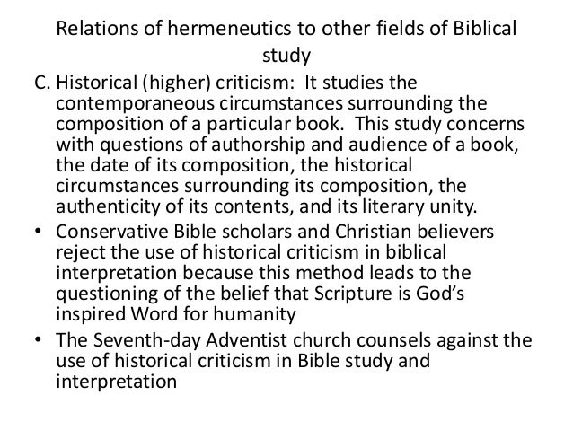 Bible 405: HERMENEUTICS