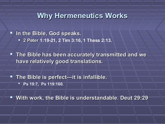 HERMENEUTICS - A GUIDE TO BASIC BIBLE ... - Theologue