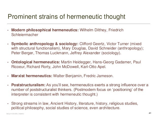 three dimensions of hermeneutics summary