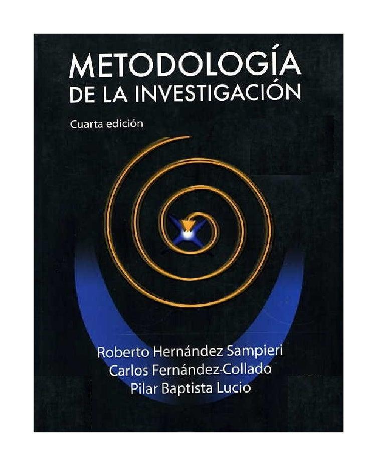 hernandez sampieri metodologia dela investigacion libro pdf
