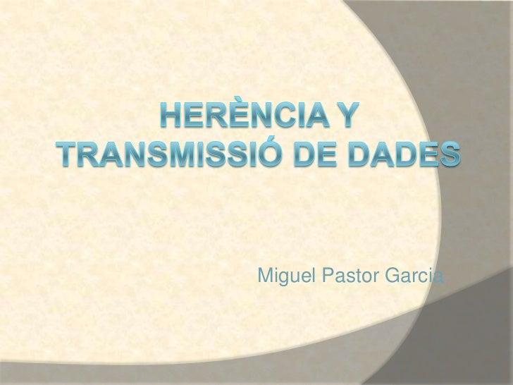 Miguel Pastor Garcia
