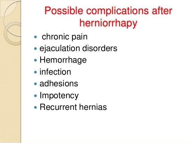 Hernia and herniorrhaphy