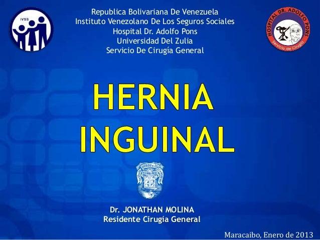 Republica Bolivariana De VenezuelaInstituto Venezolano De Los Seguros Sociales           Hospital Dr. Adolfo Pons         ...