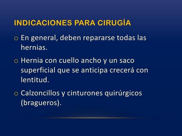 Otras zonas de herniación más raras son: