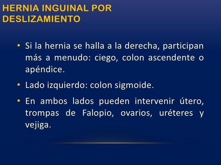 Calzoncillos y cinturones quirúrgicos (bragueros).</li></li></ul><li>HERNIAS DE LA INGLEEPIDEMIOLOGÍA<br />75% de todas la...