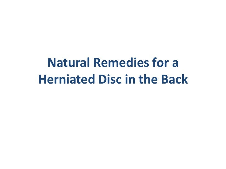 Natural Remedies for a Herniated Disc in the Back<br />