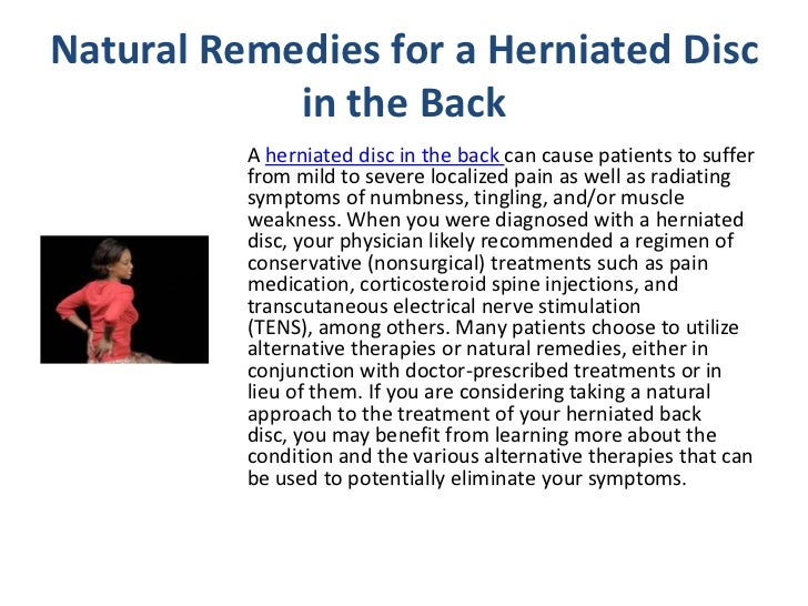 Natural Remedies For Back Disk