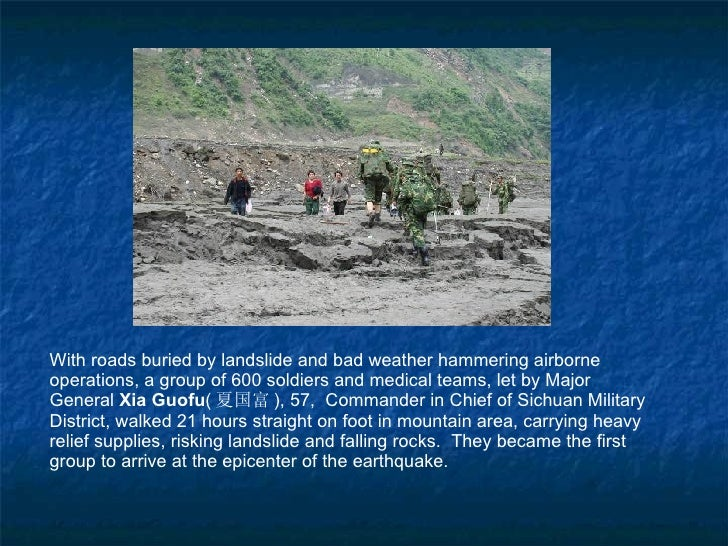 With roads buried by landslide and bad weather hammering airborne operations, a group of 600 soldiers and medical teams, l...