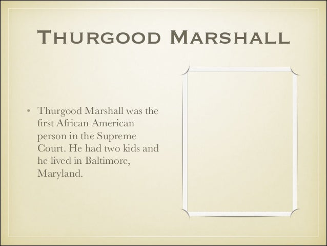 Thurgood Marshall By Grace