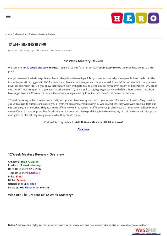 Home / General / 12 Week Mastery Review 12WeekMasteryReview  admin  7 days ago  General  Leave a comment 12 Week Maste...