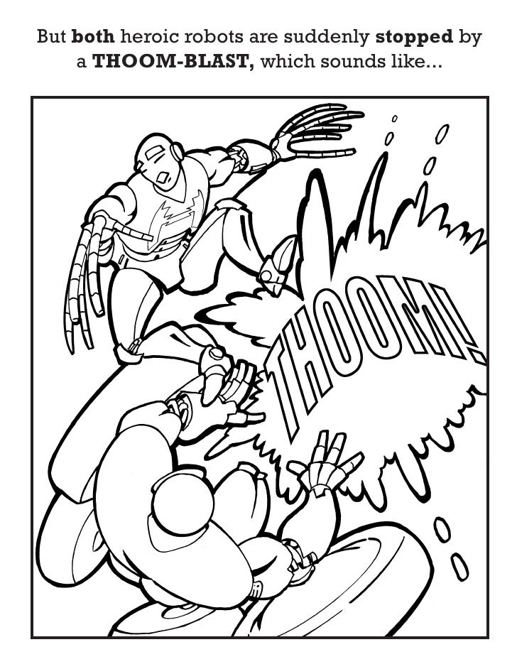 HEROBOTS preview of the childrens coloring book starring superher