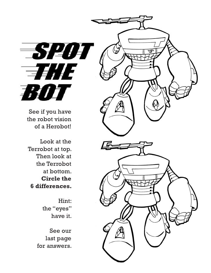 HEROBOTS™ / preview of the children's coloring book