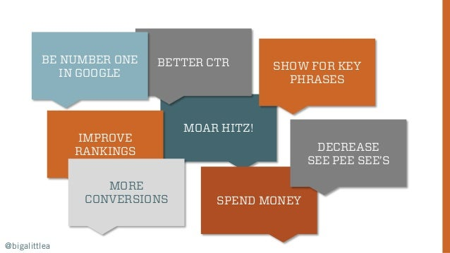 MOAR HITZ! IMPROVE RANKINGS @bigalittlea SPEND MONEY MORE CONVERSIONS SHOW FOR KEY PHRASES BETTER CTRBE NUMBER ONE IN GOOG...