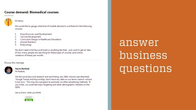 answer business questions