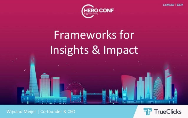 Frameworks for Insights & Impact Wijnand Meijer | Co-founder & CEO