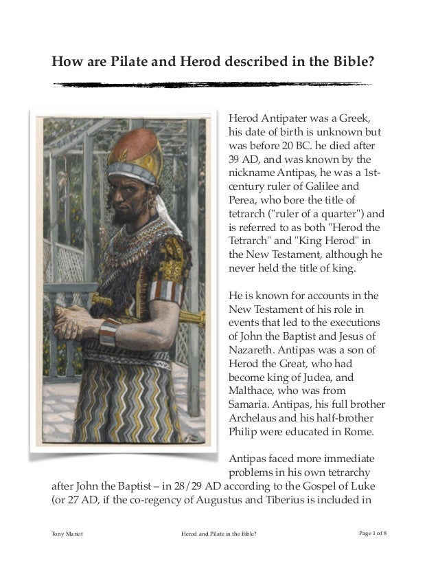 herod and pilate in the bible