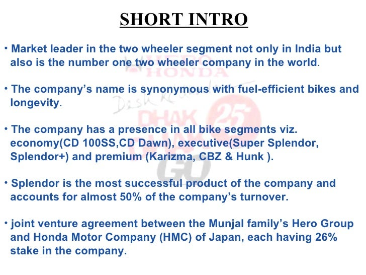 Swot analysis or honda motors and scooter india