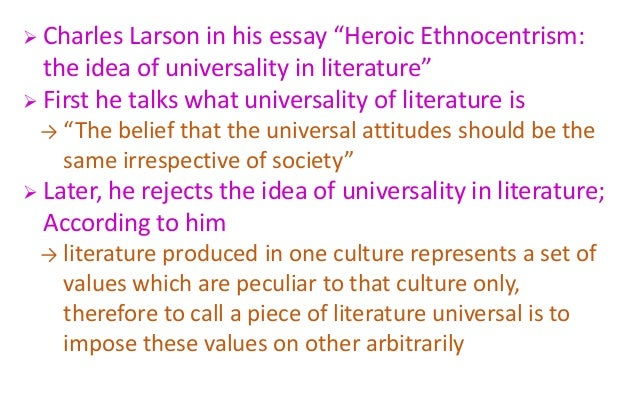 heroic ethnocentrism the idea of universality in literatureheroic eth  7