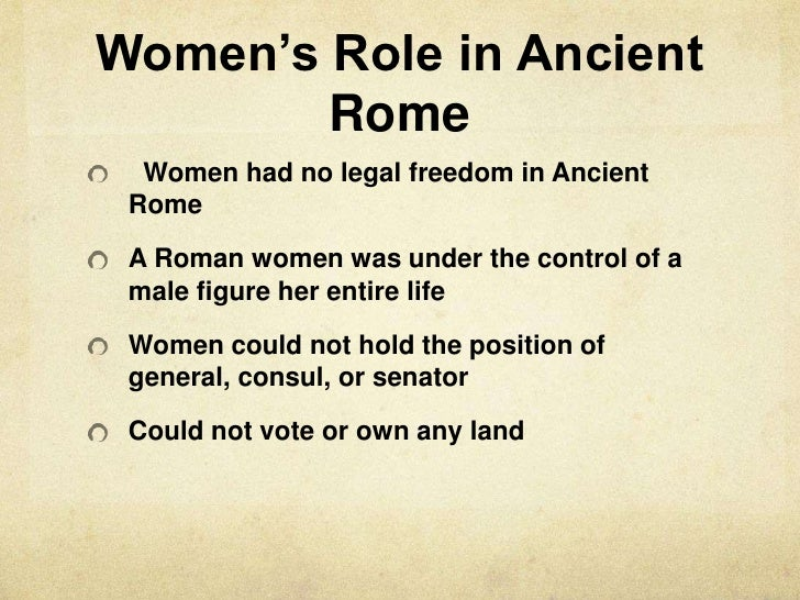 the role that women played in ancient rome