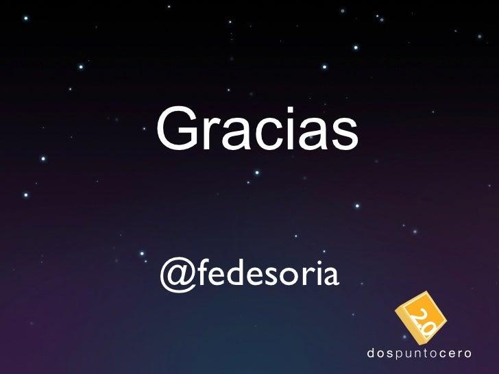 Gracias @fedesoria
