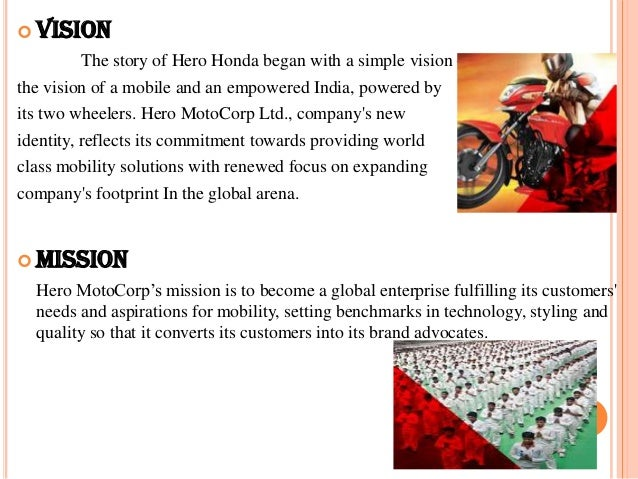 hero honda vission mission strategy What comes first vision or mission  our view on how vision and mission fit  together: a vision  nike, 1960s yamaha wo tsubusu we will.
